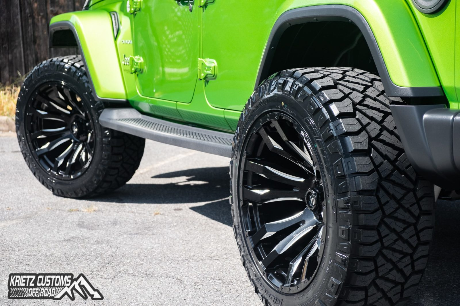 2019 Jeep Wrangler with Fuel Blitz Wheels