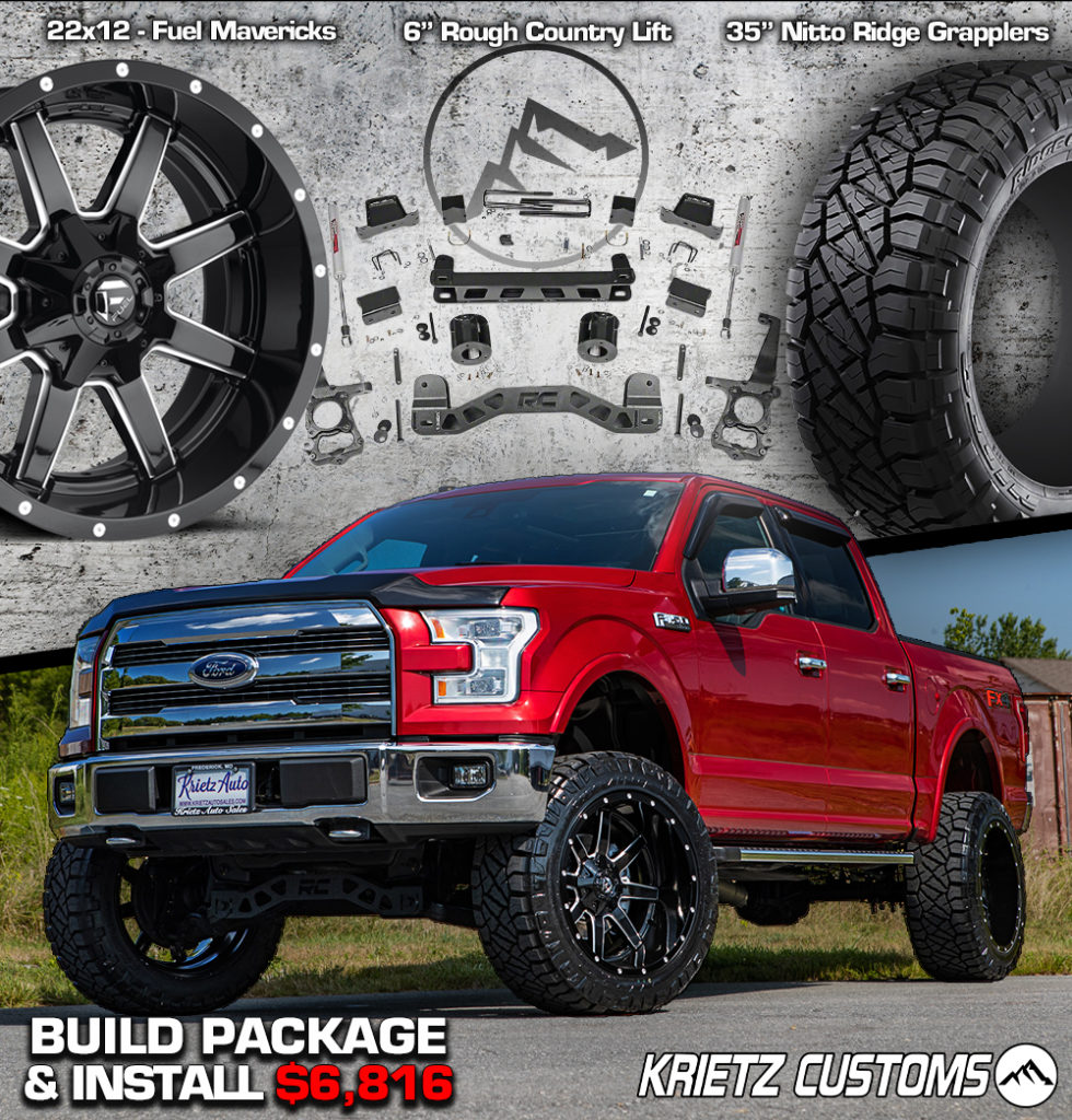 Ford F 150 Lift Kits Wheels And Tires Package Krietz Auto