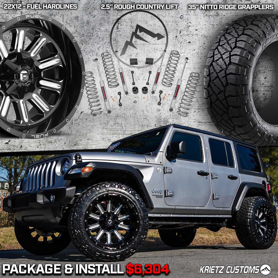 Lifted Jeep Wrangler Wheel Tires Package Krietz Auto